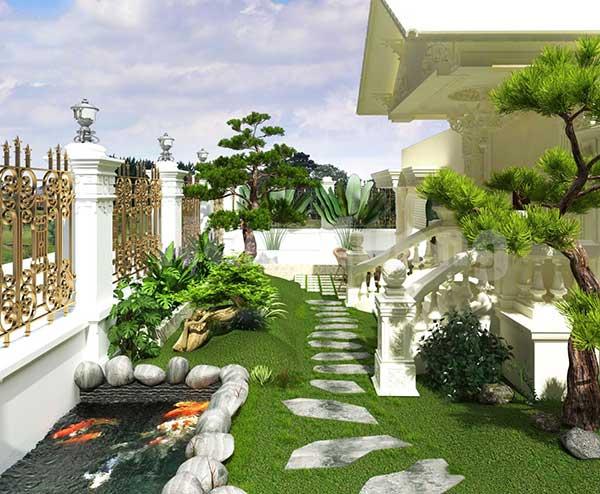 Lợi ích tiểu cảnh sân vườn biệt thự mạng lại